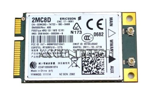Card WWAN 3G Dell Latitude E6520
