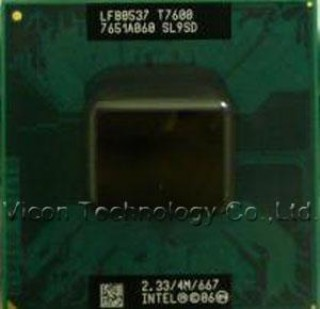 CPU T7600 2.33Ghz, 4Mb cache L2