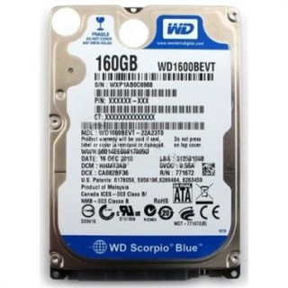 HDD Laptop WD 160GB 5400RPM Cũ