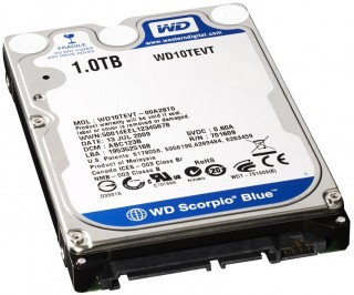 HDD Laptop 1TB Western Digital Cũ