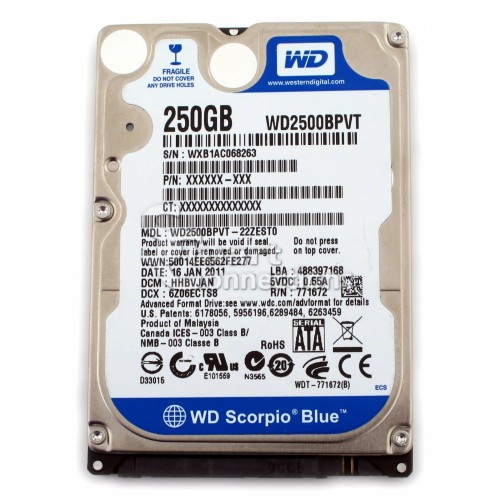 HDD Laptop 250GB Cũ