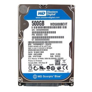HDD Laptop 500GB 5400RPM cũ