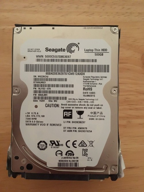HDD Laptop Seagate 500G Slim 7200rpm Cũ