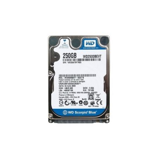 HDD Laptop Western 250GB 7200RPM
