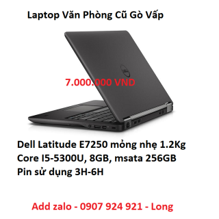 Laptop Cũ Dell Latitude E7250 Pin 5H