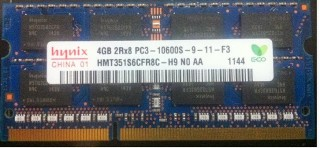 Ram laptop DDR3 4GB - Bus 1333 Mhz - PC3 10600
